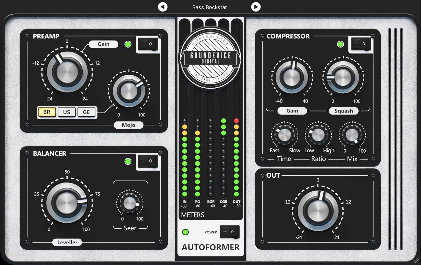 United Plugins Autoformer plug-in audio mix virtual audiofader