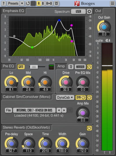 Voxengo Boogex 3.0 plug-in free audio daw software amp gratis audiofader