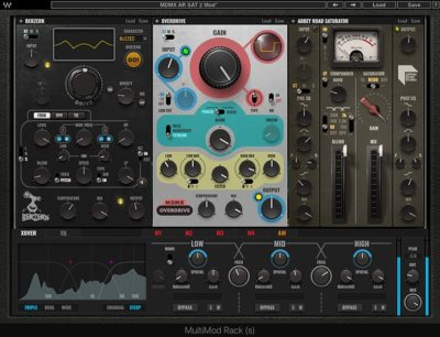 Waves MultiMod Rack virtual distortion fx mix software audiofader