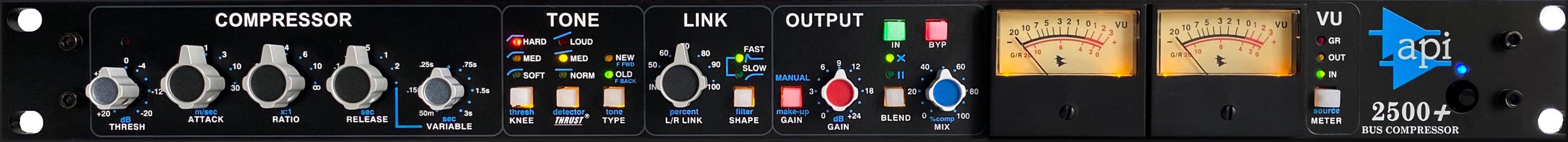 API 2500+ hardware rack comp analog studio rec mix funky junk audiofader