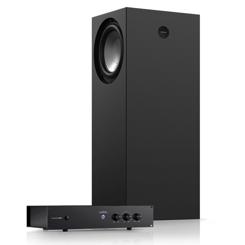 Amphion FlexBase25 FlexAmp1200 sub amp studio pro audio audiofader