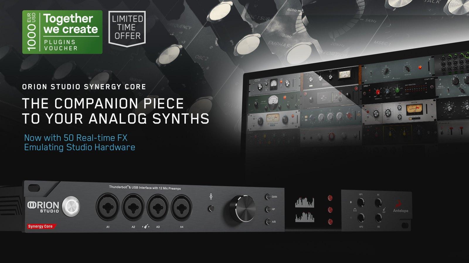 Antelope Audio togegher we create studio pro audiofader