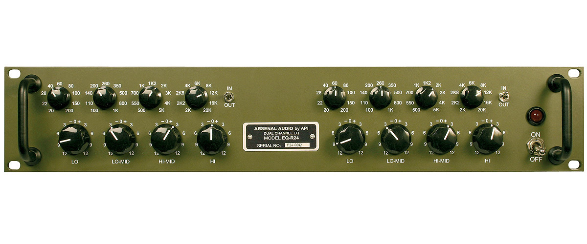 Arsenal Audio api 500 rack outboard analog hardware eq luca pilla test r24