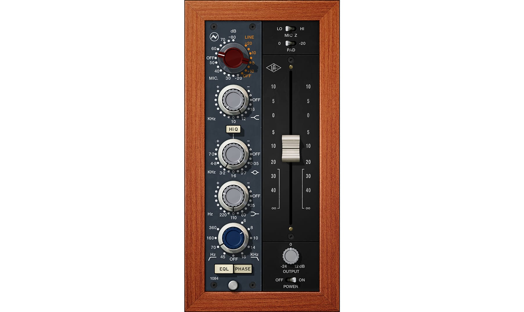 Universal Audio UAD neve 1084 pre eq Software 9.12 virtual plug-in audio daw midiware audiofader