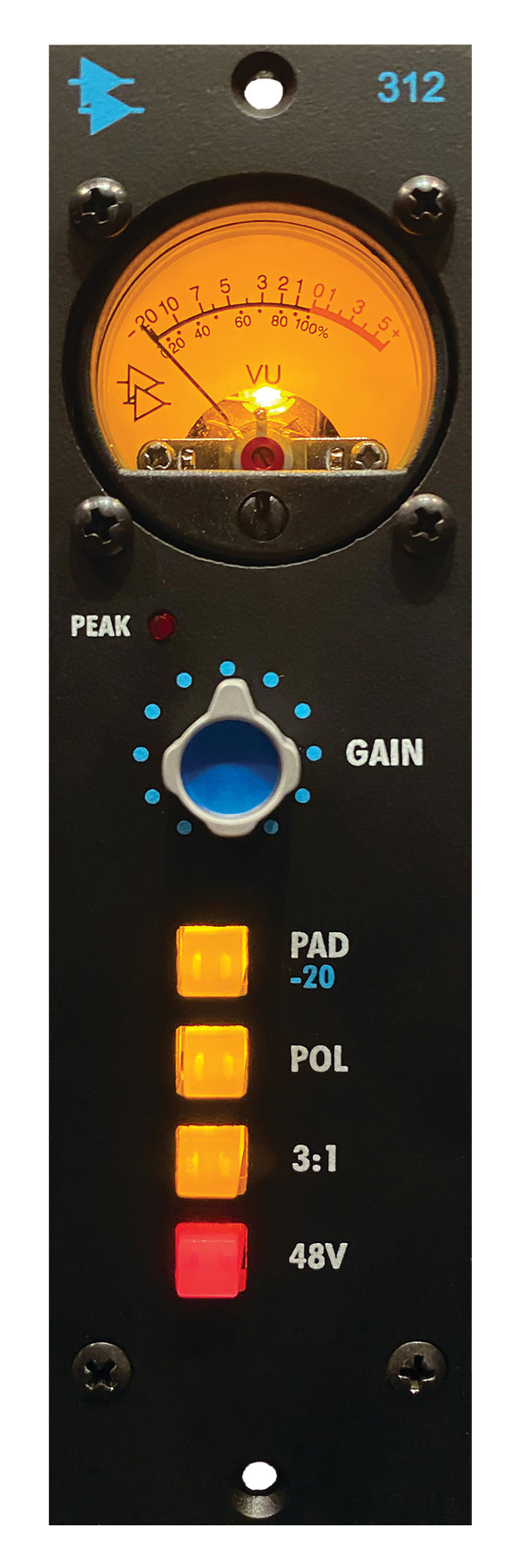 API Audio 312 hardware outboard rack processing audio rec pre preamp funky junk audiofader