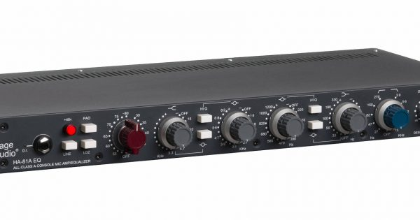 Heritage Audio HA81A rackmount 80series outboard hardware analog pre eq studio recording mic preamp midi music audiofader