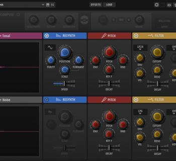 Steinberg Backbone GUI resynthesizer vst drum cubase percussive sound subacractive plug-in au music production sound design test pierluigi bontempi audiofader