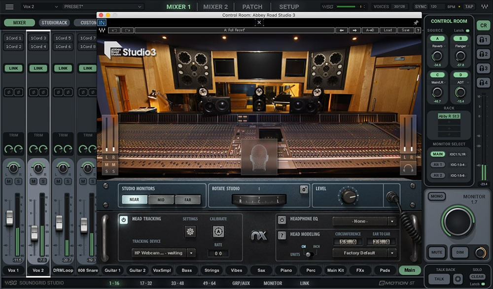 Waves Soundgrid Studio plug-in software audio pro daw virtual racks system dsp server audiofader