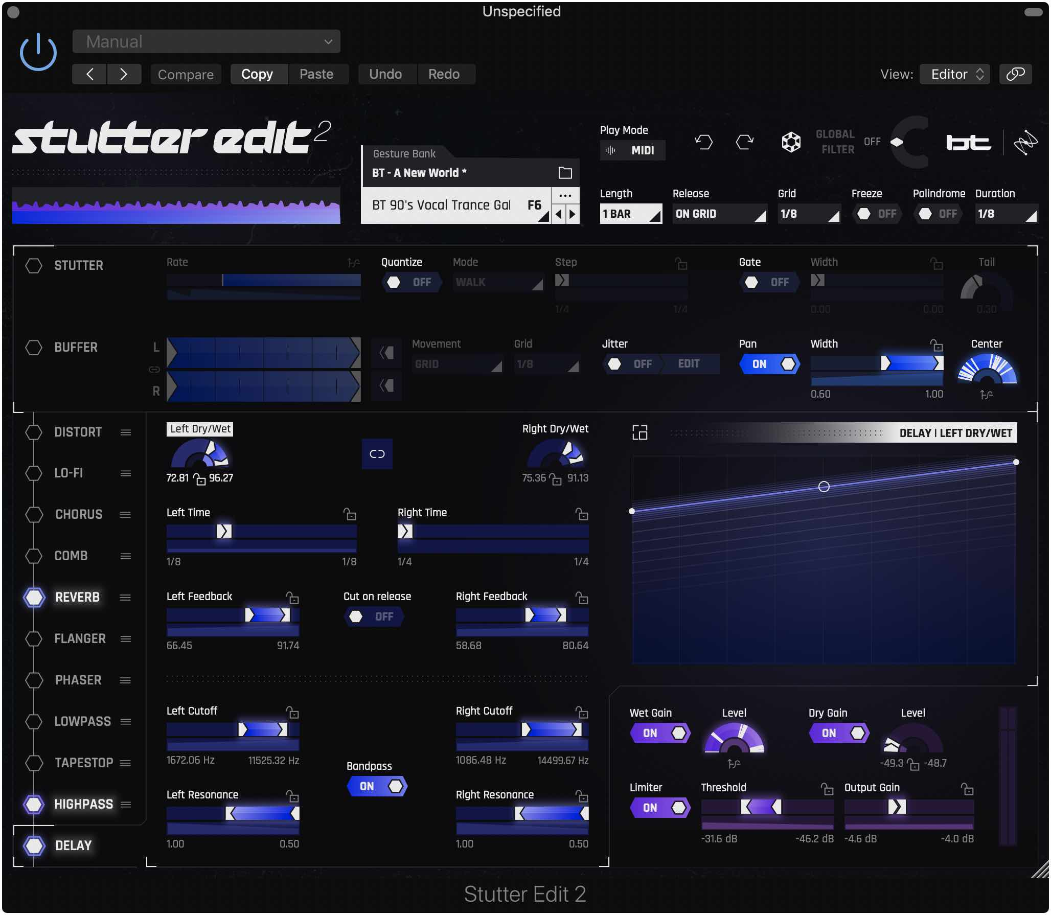 iZotope Stutter Edit 2 bt effect fx plug-in audio pro daw software midiware audiofader