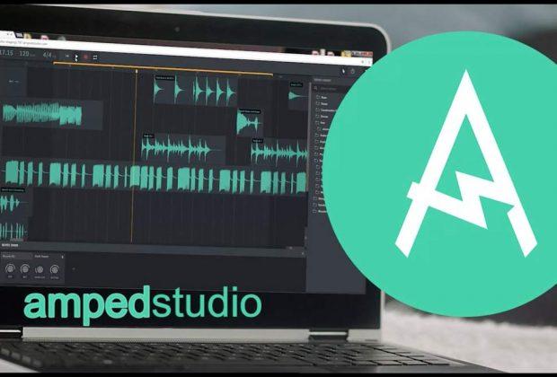 Amped Studio daw software web online internet audio pro plug-in vst2 audiofader