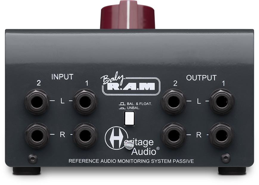 Heritage Audio Baby RAM monitor contoller audio pro midi music studio hardware audiofader