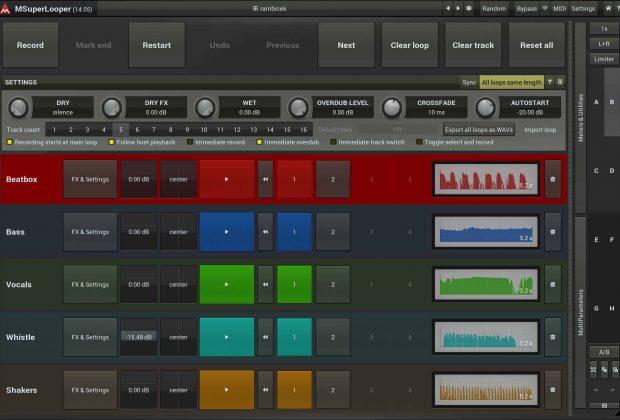 Melda Production MSuperLooper plug-in audio producer looper dj mix audiofader
