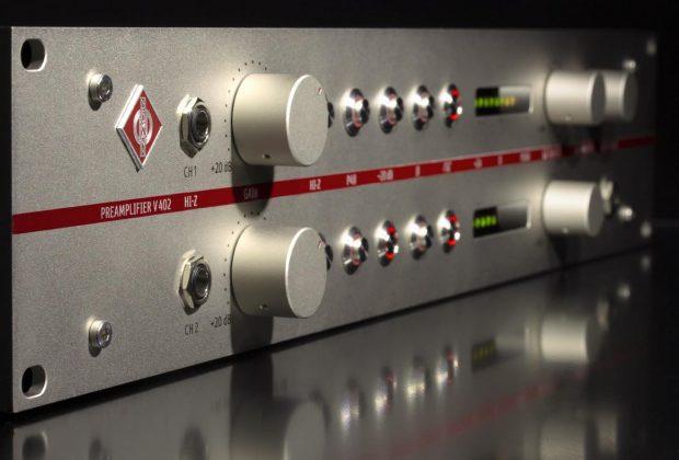 Neumann V402 Dual Channel Preamp audio pro studio recording exhibo