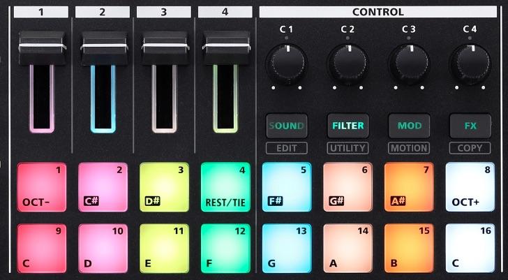 Roland MC-101 test dj audiofader