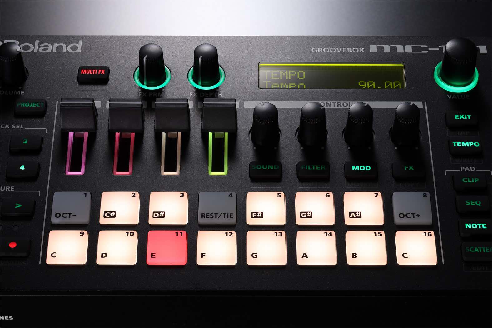 Roland MC-101 review audiofader