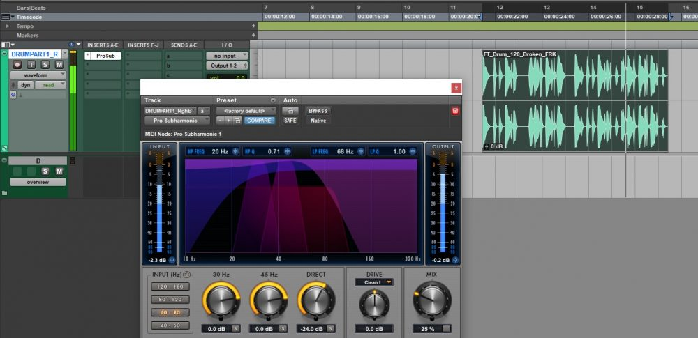 Tutorial Pro Tools Pro Subharmonic low frequency bass mix low-end audiofader vincenzo bellanova