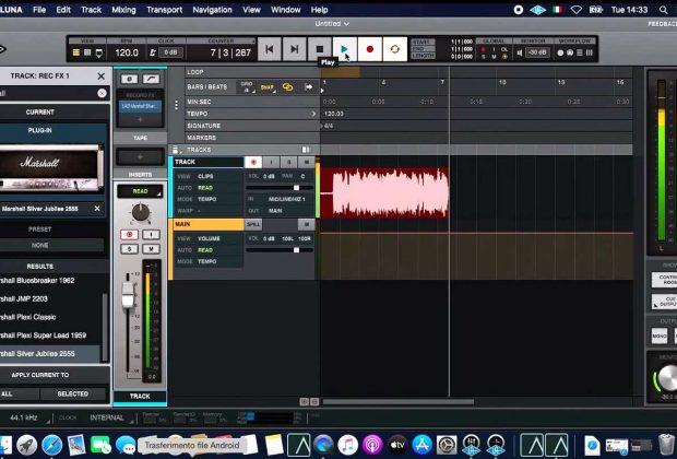 universal audio luna record fx