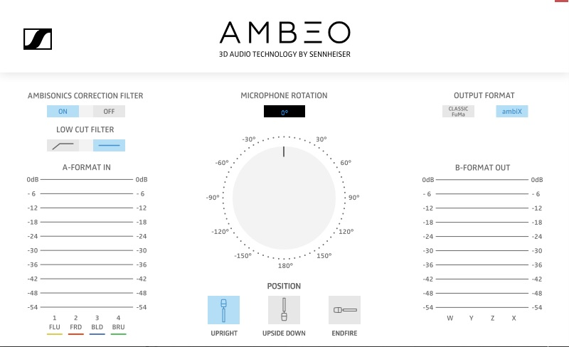 Sennheiser AMBEO VR Mic exhibo surround multicanale test audiofader software plug-in
