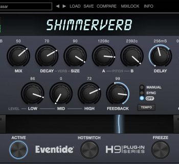 Eventide ShimmerVerb plug-in audio virtual mix mixing processing reverb audiofader