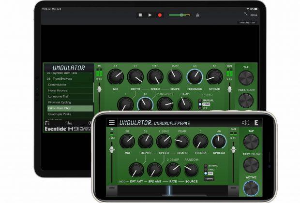 eventide undulator h3000 plug-in audio mobile ipad iphone daw computer producer tremolo h9 effect audiofader