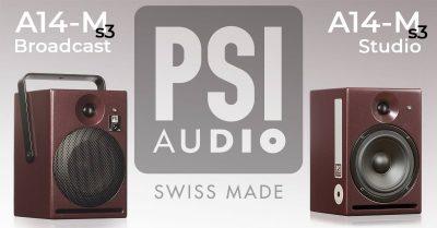 PSI Audio A14-M broadcast studio monitor studio obvan live rec music vdm group prezzo audiofader