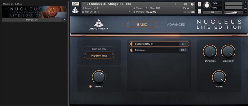 Audio Imperia Nucleus Lite libreria virtual instrument orchestra score audiofader test kontakt native instruments