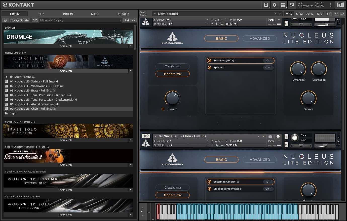 Audio Imperia Nucleus Lite libreria virtual instrument orchestra score audiofader test kontakt native instruments prezzo