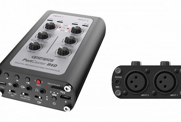 CEntrance PortCaster hardware studio live pro audio recording rec interfaccia player mobile iOS android macosx windows audiofader