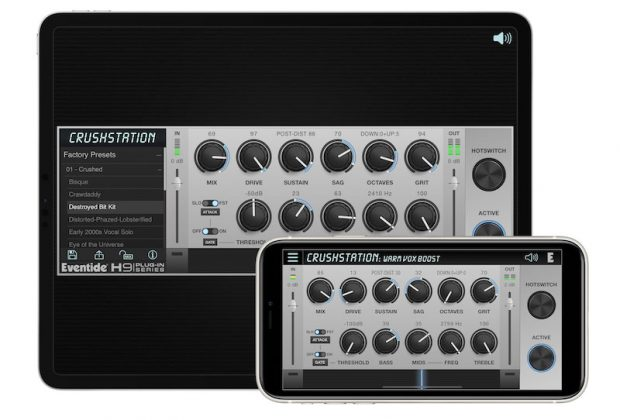 Eventide plug-in audio pro software mix fx ipad iphone ios mac pc crushstation crystals micropitch rotary shimmerverb spring undulator