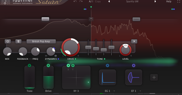FabFilter Saturn 2 test software virtual mix harmonic exciter distortion andrea scansani daw audiofader