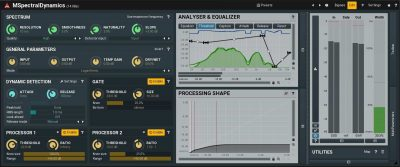 Melda Production MSpectralDynamicsLE software plug-in audio pro mix virtual audiofader dynamic
