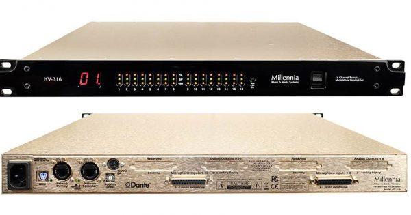 Millennia media HV-316 preamp digital hardware outboard rack audio network rec pro audiofader