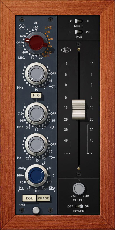 UAD Neve 1084 pre eq virtual software unison daw mixing recording rec studio pro LUNA test audiofader GUI prezzo