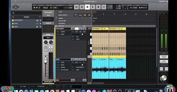 universal audio luna tutorial mixdown export midiware video andrea scansani audiofader