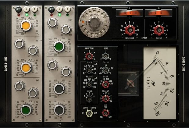 Acustica Audio Camel channel strip plug-in audio pro software mix mastering trident test audiofader