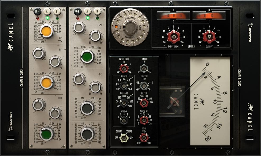 Acustica Audio Camel channel strip plug-in test audiofader