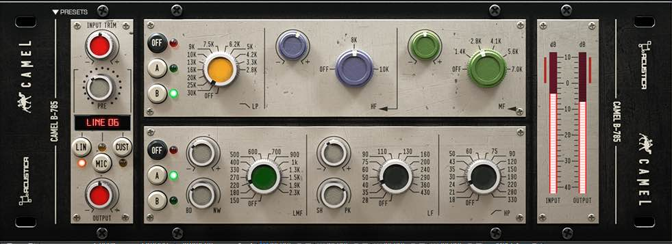 Trident B Calrec plug-in emulation acustica audio camel
