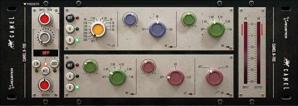 Trident B eq acustica audio camel price audiofader