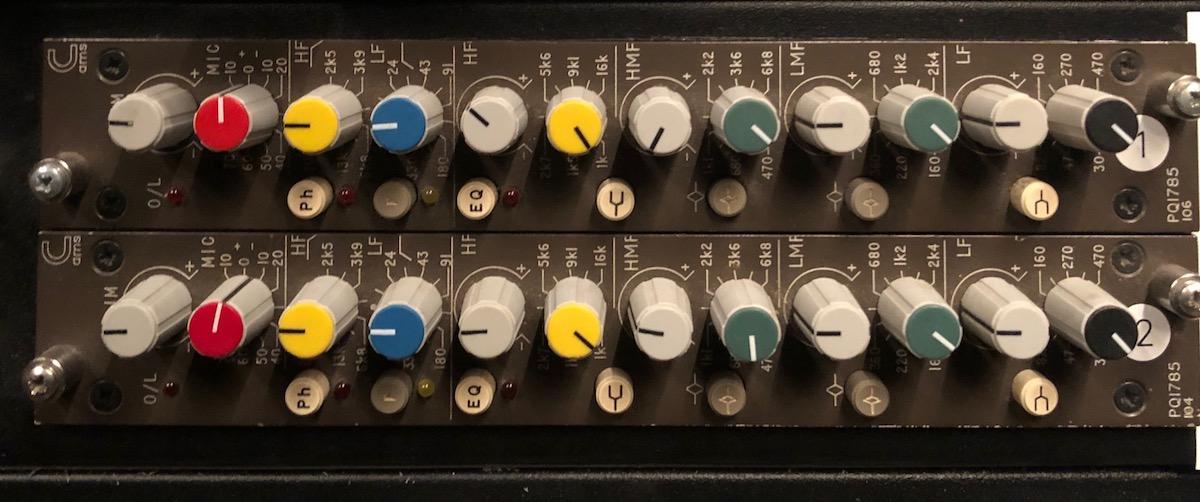 Calrec PQ 1785 Carlo Contini Digitube Studio acustica audio camel eq
