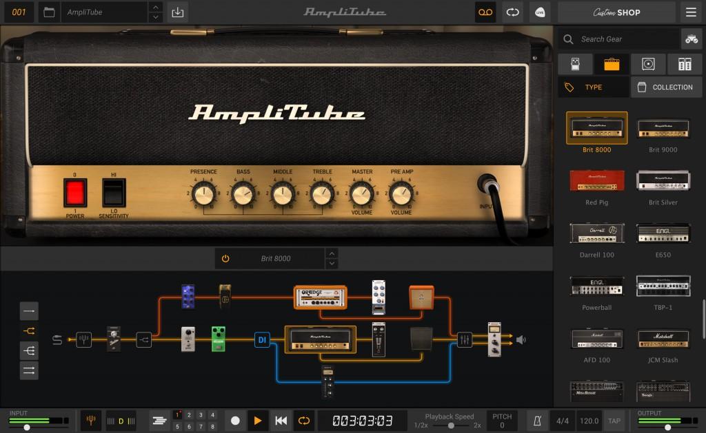 Ik Multimedia AmpliTube 5 software rig chitarra guitar software daw audiofader