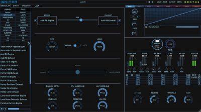 Krotos Audio Igniter sound design fx test vincenzo bellanova audiofader gui