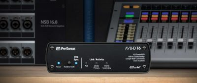 PreSonus AVB-D16 hardware dante live studiolive mixer midi music audiofader