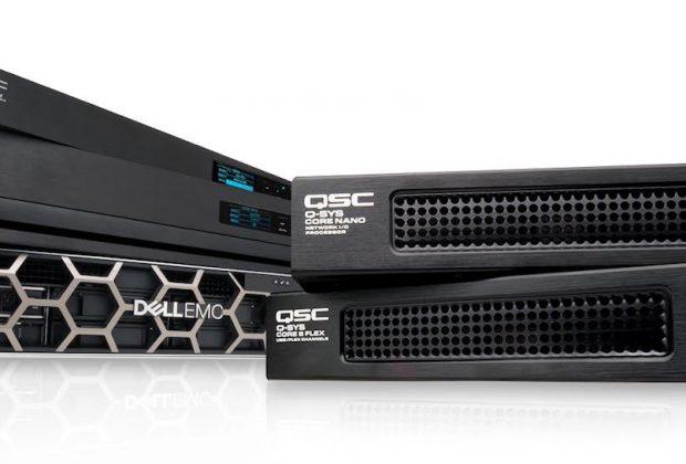 QSC Q-Sys Core Nano hardware audio pro digital rete exhibo audiofader