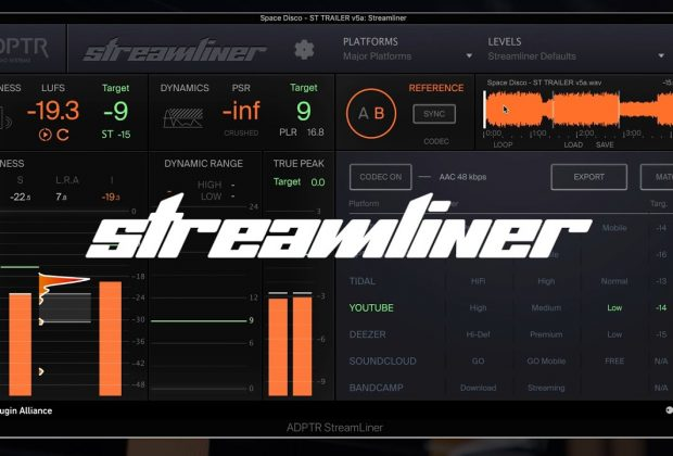 ADPTR Streamliner plugin alliance plug-in audio software daw mastering loudness audiofader pro