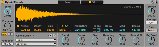 Ableton Live 11 daw software producer music dj virtual instrument synth rec edit mix audiofader reverb plug-in