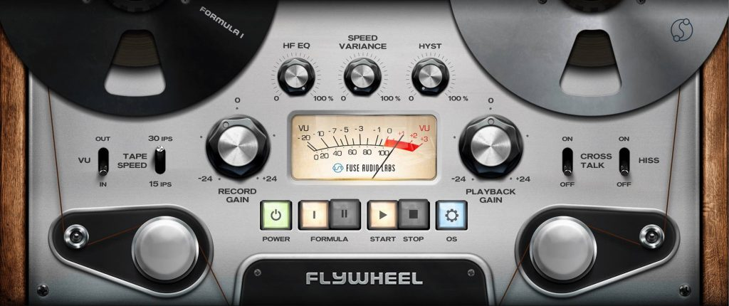 Fuse Audio Labs FLYWHEEL plug-in audio software daw mix mixing audiofader tape nastro