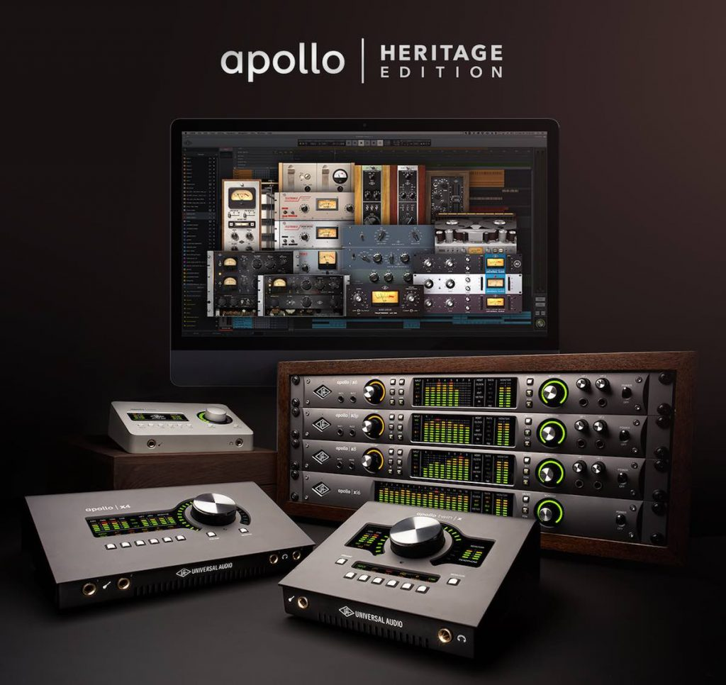 Universal Audio Apollo Heritage Edition hardware audio pro midiware studio uad plugin software audiofader
