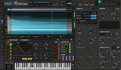iZotope Iris 2 software soft synth virtual instrument producer music midiware audiofader