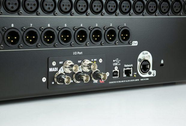 Allen&Heath SQ MADI mixer hardware digital exhibo strumenti musicali