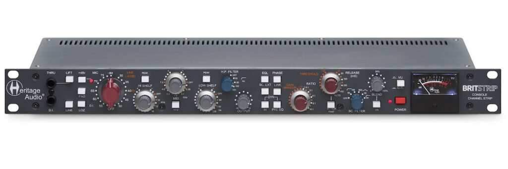 Heritage Audio BritStrip channel strip hardware outboard rack studio audio pro rec mix midi music audiofader